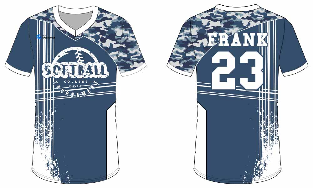 Custom printing full button softball jersey design
