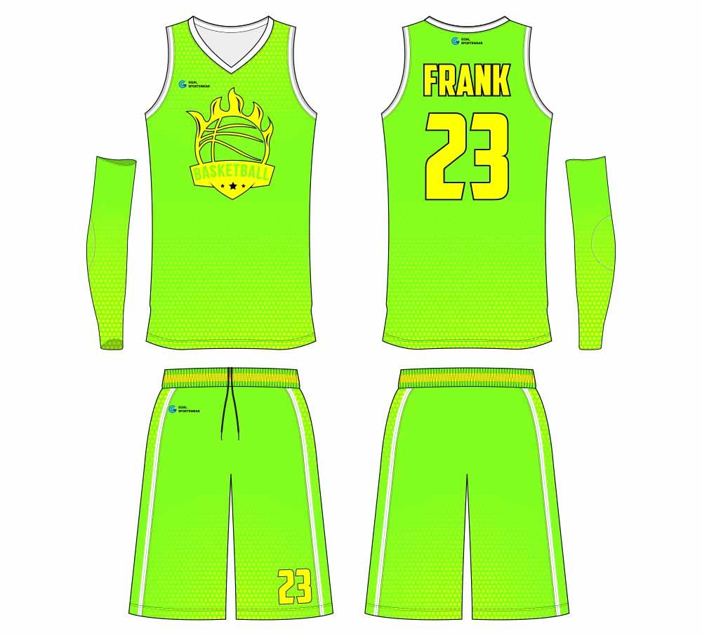 Custom school team design basketball jersey design