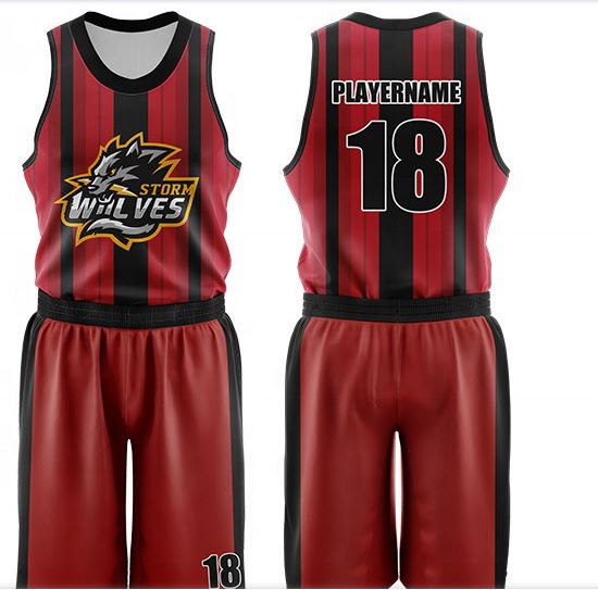 screen printed sublimation basketball uniform