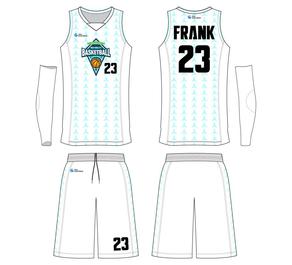 sublimated custom youth pro basketball jersey design