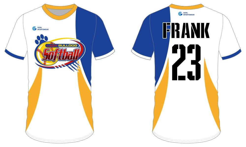 Sublimated custom youth pro softball jersey design