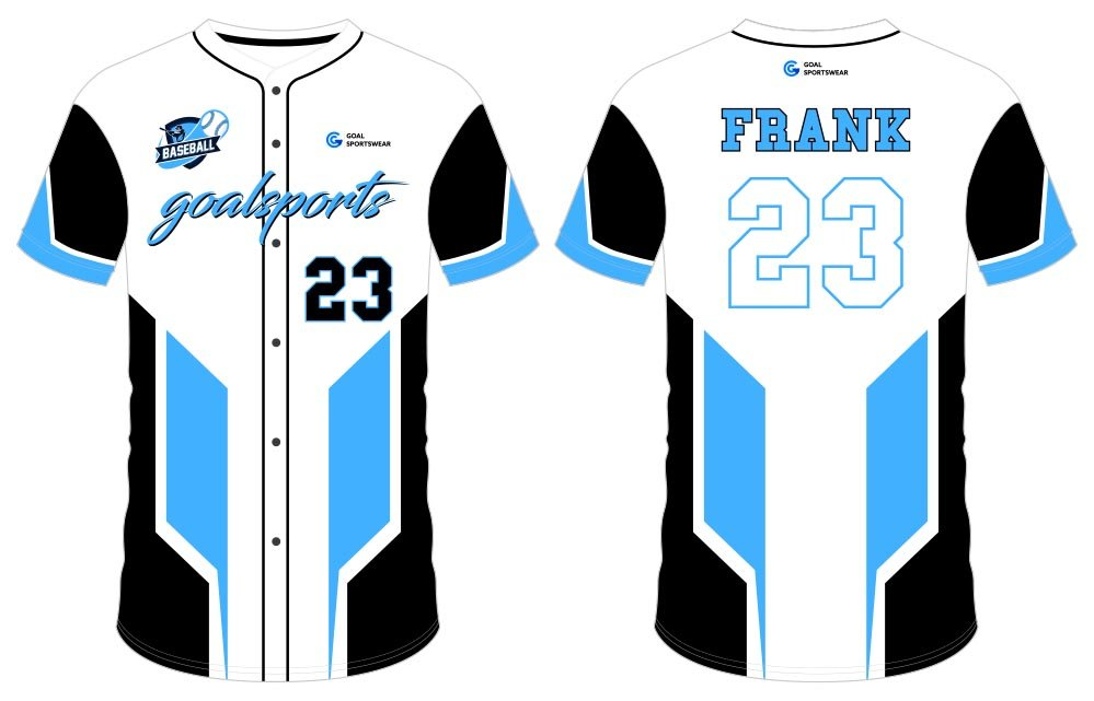 Sublimation custom polyester spandex button down baseball jersey