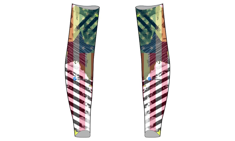 wholesale 100% polyester custom made sublimation custom baseball arm sleeves