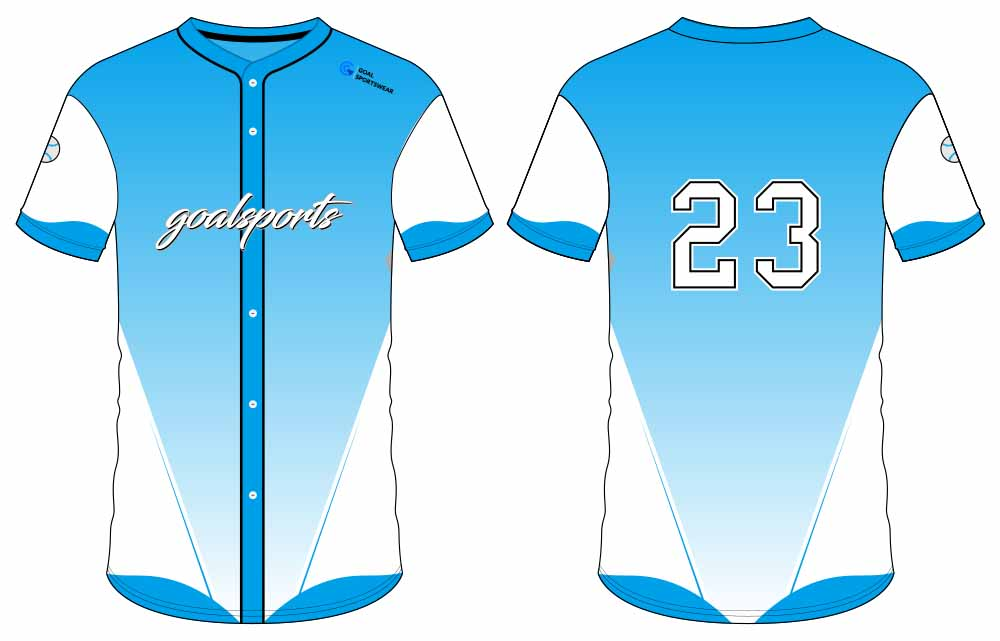 wholesale 100% polyester custom printed college button down baseball jersey