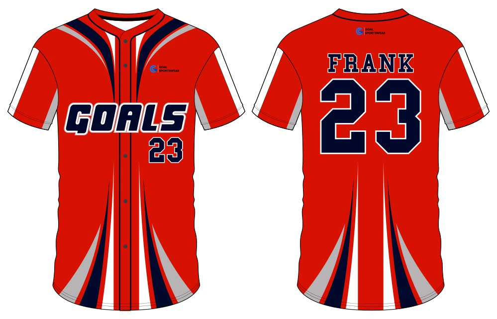 wholesale 100% polyester custom sublimated printed button down baseball jersey