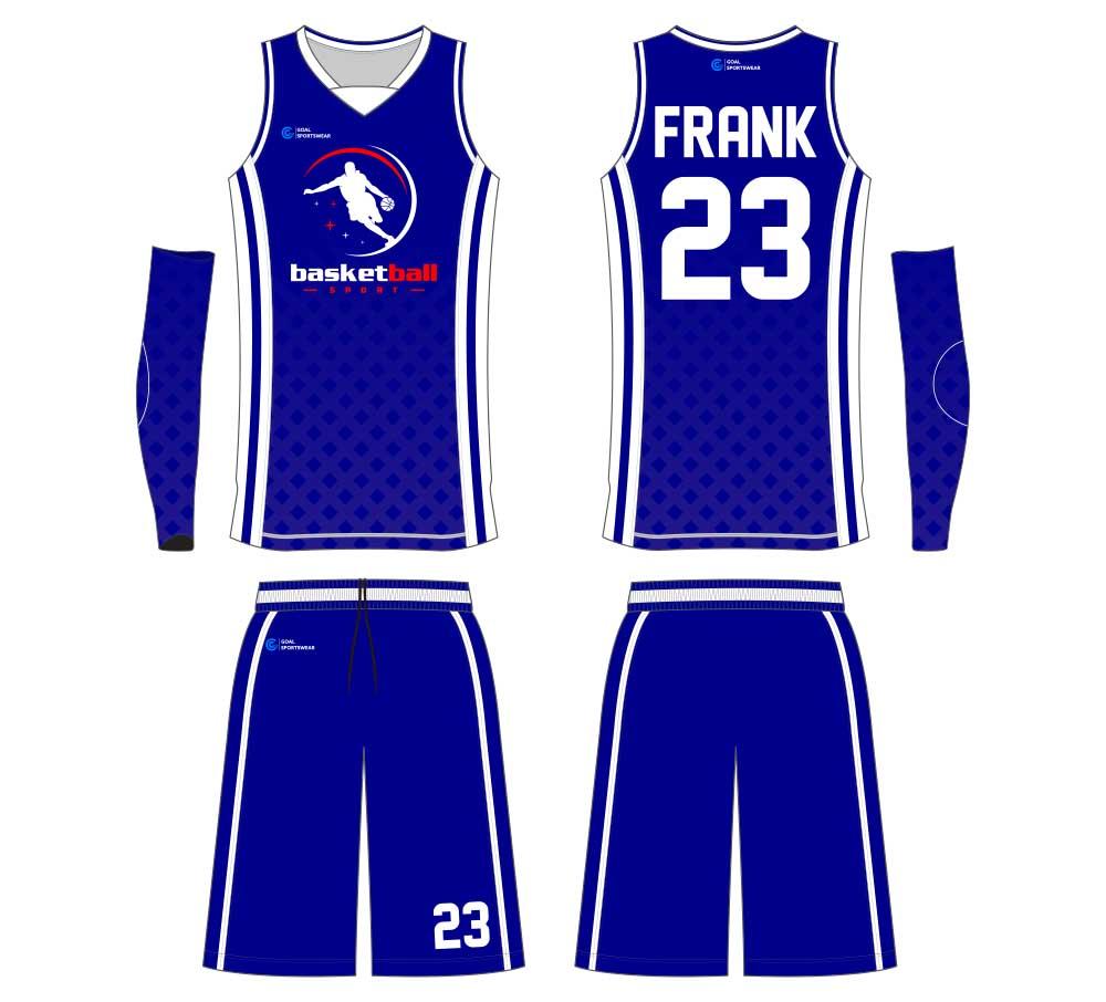 wholesale China custom design sublimation printing basketball jersey design