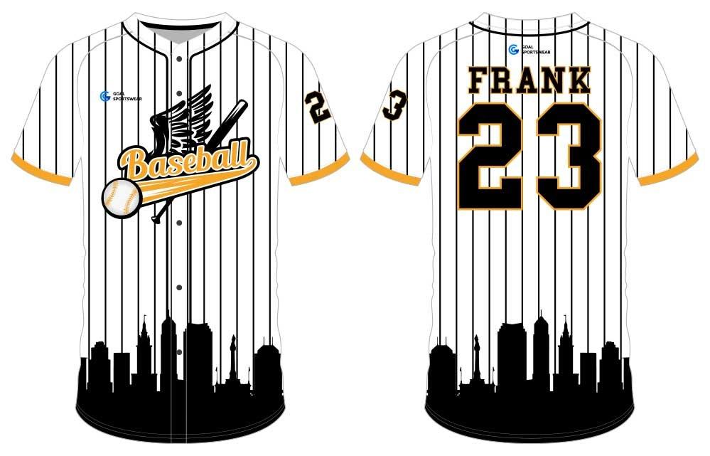 wholesale China custom design sublimation printing custom throwback baseball jerseys