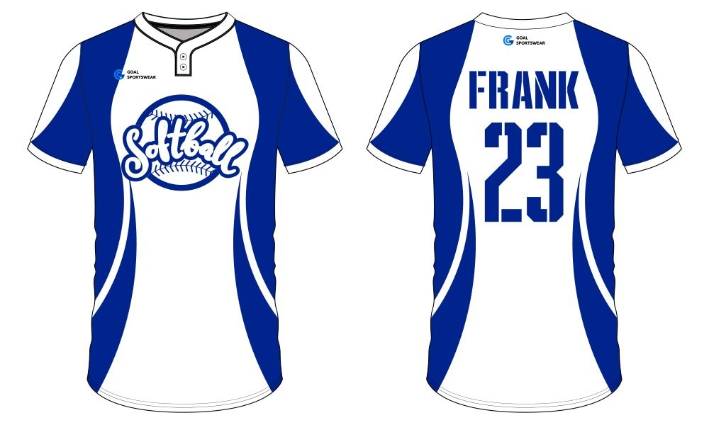 wholesale China custom design sublimation printing softball jersey design