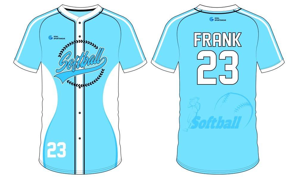 wholesale custom dri fit softball jersey design